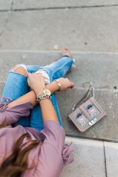 Summer to fall style via Glitter & Gingham / Best Booties of the NSale / How to style your booties for summer / How to style boyfriend jeans / Nordstrom Anniversary Sale