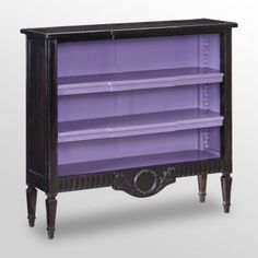 Black And Purple Bookcase. I Love The Look Of Black And Purple