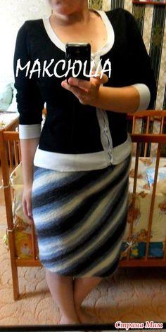 Диагональная юбка для любимой свекрови - Вязание - Страна Мам