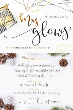 Mrs Glows Modern Calligraphy Font Download with by mycandythemes   #giftideas #holiday #design #announcement
