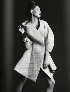 """Chess novella"" (Editorial on Nu-Mode´ Magazine (New York) October 14). Photo - Dmitry Nevlad, model - Ella Zadavysvichka (Linea 12), style - Sonya Matveeva, make-up - Natalya Goncharenko, hair - Maryna Trofimets, coat - LARA QUINT. #LaraQuint #fashion #style #editorial #fashionphoto #fashionphotography #model #coat #avantgarde #oversize #trend #collection #outfit #look"