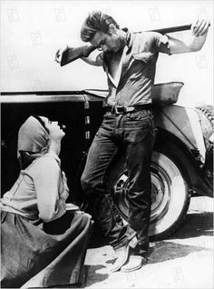 Giant (1956) Elizabeth Taylor, Rock Hudson, James Dean - Director: George Stevens  IMDB: Sprawling epic covering the life of a Texas cattle rancher and his family and associates.