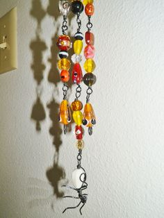 detail of spider bead tree of life sun catcher