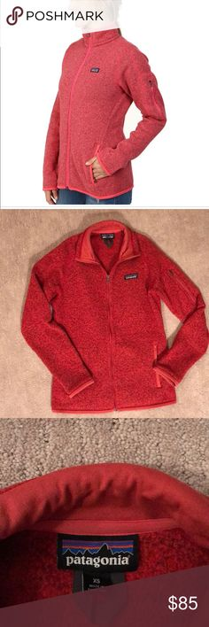 Patagonia Better Sweater Fleece Jacket One of my favorite jackets.. too small after I had my baby. In excellent condition. A beautiful red orange color. Patagonia Jackets & Coats