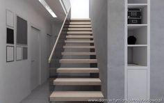 Jasne z poreczą szklaną Stairs, Home Decor, Stairway, Decoration Home, Room Decor, Staircases, Home Interior Design, Ladders, Home Decoration