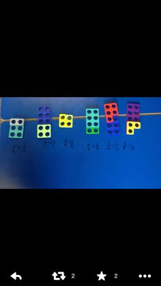 Equivalent fractions with #numicon