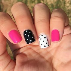 Nail Art Designs Simple Short Nails Design Ideas For Square & Round Nails in Spring & Summer - T November Nails, Round Nails, Oval Nails, Polka Dot Nails, Polka Dots, Short Nail Designs, Fall Nail Art, Nagel Gel, Stylish Nails