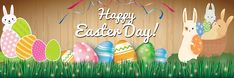 Printable Happy Easter Banner Images Pictures Photos 2020 For Decoration - Happy Easter Images 2020 images clip art Happy Easter Meme, Funny Easter Memes, Happy Easter Banner, Happy Easter Wishes, Happy Easter Greetings, Easter Festival, Promotional Banners, Easter Specials, Banner Images