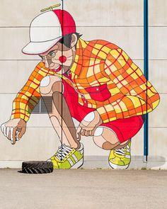Graffiti & Street-art since 1999 Best Street Art, Amazing Street Art, 3d Street Art, Street Artists, Amazing Art, Murals Street Art, Street Art Graffiti, Banksy, Urbane Kunst