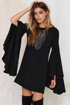 Nasty Gal Hells Bells Crepe Dress - Sale