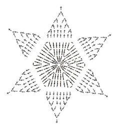 Crochet Snowflake + Free Pattern Step By Step + Diagram Crochet Tree, Crochet Stars, Thread Crochet, Crochet Flowers, Crochet Snowflake Pattern, Christmas Crochet Patterns, Crochet Snowflakes, Crochet Diagram, Crochet Motif