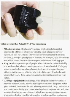Video Metrics Every Marketer Should Be Watching - HBR