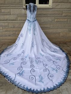 The Corpse Bride Inspired Emily Halloween Costume Wedding Dress Veil Sz 12-14 L #Dress