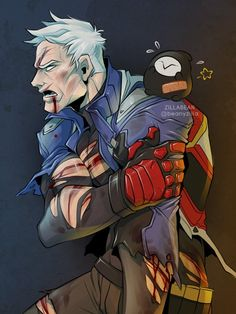 Soldier 76 Video Games Funny, Funny Games, Solider 76, Overwatch Funny Comic, Jack Morrison, Overwatch Fan Art, Epic Art, Team Fortress 2, Action Poses