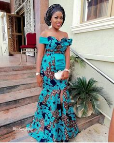 Top Classic Aso Ebi styles 2018 by Zahra Delong - 2019 Trends Ankara Long Gown Styles, Lace Gown Styles, African Lace Styles, African Dresses For Women, African Print Dresses, African Attire, Ankara Styles, Ankara Tops, Ankara Skirt
