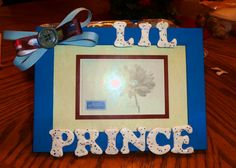 Baby boy   Lil Prince  picture frame by FancifulFrames on Etsy, $8.50