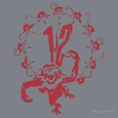 """Monkey x 12"" T-Shirts & Hoodies by loogyhead | Redbubble"