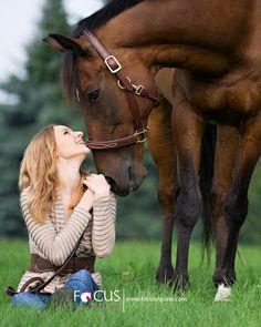 Senior pics con caballo