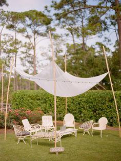 Lounging area for reflection of the day's events.  Both the couple and guests can enjoy!