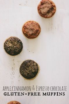 gluten free muffins: chocolate espresso and apple cinnamon | the vanilla bean blog