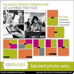 Layered Photo Sets No. 01 (digital)