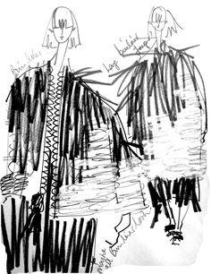 The New MA Graduates: Hayley Grundmann Fashion Sketchbook - fashion sketches; Csm Sketchbook, Fashion Design Sketchbook, Fashion Illustration Sketches, Illustration Mode, Fashion Design Drawings, Fashion Sketches, Sketchbook Ideas, Dress Sketches, Central Saint Martins
