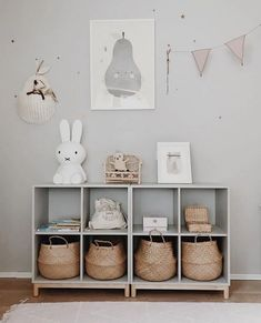 playroom design, kid playroom decor ideas, playroom organization for kid room, kid room decor, woven belly basket in cubby for toy storage for nursery design or girl room design Playroom Decor, Baby Room Decor, Playroom Organization, Kid Playroom, Organization Ideas, Organizing Bags, Kids Playroom Storage, Kids Wall Decor, Toy Rooms