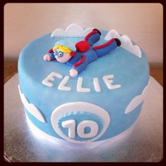 Skydiving Cake Special Birthday Cakes, 9th Birthday, Birthday Parties, Big Cakes, Cakes For Men, Novelty Cakes, Skydiving, Celebration Cakes, Cake Ideas