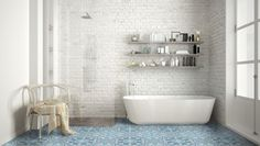 Find the best ceramic shower tile in 10 simple steps and explore free shower tile design ideas! Ceramic shower tile choices PLUS 40 beautiful ideas to spark your imagination. Vintage Interior Design, Bathroom Trends, Bathroom Wall Tile, Minimalist Bathroom, Bathroom Colors, Bathrooms Remodel, Bathroom Design, Bathtub, Rustic Modern Bathroom