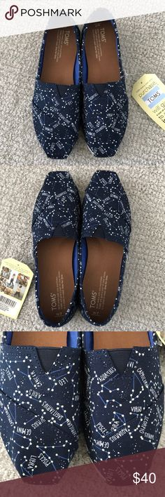 Toms Glow in the Dark Constellation Shoes, 7, New Toms Classic Glow in the Dark Constellation Shoes, 7, New with Box Toms Shoes Flats & Loafers
