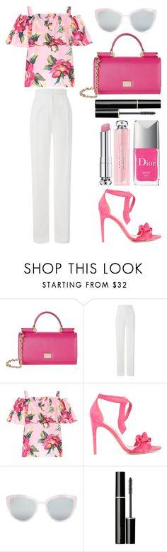"""Style #372"" by maksimchuk-vika ❤ liked on Polyvore featuring Dolce&Gabbana, Amanda Wakeley, Alexandre Birman, Topshop, SUQQU and Christian Dior"