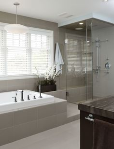 Bathroom tile colour,size and step in shower