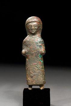 Urartian Bronze Statuette of a Draped Woman (a Goddess?) | 8th Century BC , 7th Century BC Mesopotamian | Bronze | Sculpture