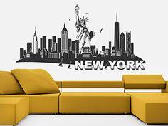 Wandtattoo New York Mit Freiheitsstatue