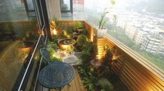 Simple Green Balcony Design Inspiration Pictures