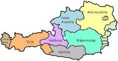 Németül pályázom-Proaktív, innovatív álláskeresés külföldön.: Ausztriai tartományok-álláskeresés tartományok szerint. Salzburg, Austria, Lisa Simpson, Bowser, Fictional Characters, Maps, Federal, Map Earth, Vienna