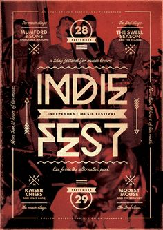indie fest poster - Google Search