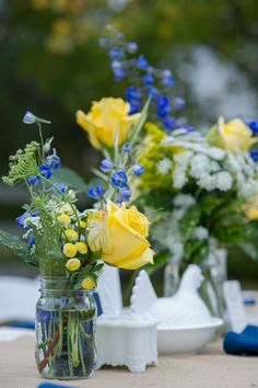 Blue & Yellow Wedding #yellow #blue #wedding