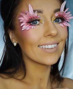 Pin by estrellita vogel on creative ideas in 2019 flower makeup, halloween makeup Rave Makeup, Sfx Makeup, Makeup Art, Beauty Makeup, Exotic Makeup, Cheer Makeup, Makeup Geek, Makeup Goals, Makeup Inspo