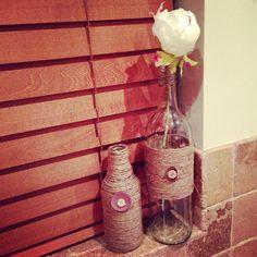Twine craft bottles!