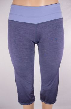 LULULEMON Crops Sz S Blue Straight Leg Drawstring Hem #Lululemon #PantsTightsLeggings