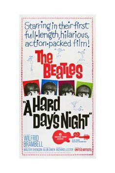 A Hard Day's Night, the Beatles, Paul Mccartney, John Lennon, George Harrison, Ringo Starr, 1964 Giclee Print at Art.com