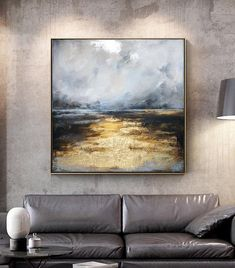Path To The Sea, Original Abstract painting, Large Contemporary Grey Navy Blue B. - Path To The Sea, Original Abstract painting, Large Contemporary Grey Navy Blue Beige Gold Leaf Land - Texture Art, Texture Painting, Acrylic Painting Canvas, Abstract Canvas, Large Painting, Painting With Gold Leaf, Large Canvas Art, Blue Canvas, Acrylic Art