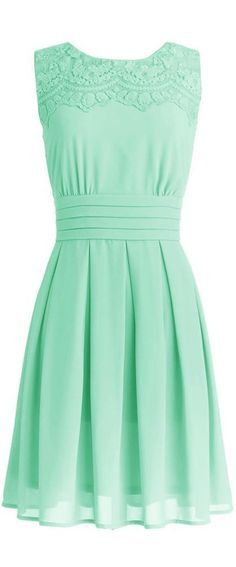 Stylish Mint Dress for Summer Cute mint dress with a sleeveless design and color just looks