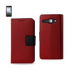 REIKO ALCATEL ONE TOUCH SONIC LTE 3-IN-1 WALLET CASE IN RED