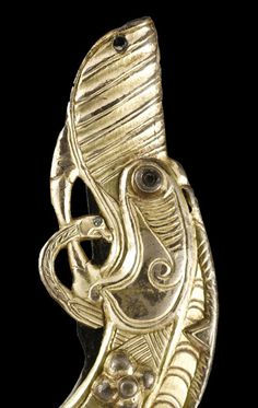 Silver-gilt chape from a sword scabbard, part of the St Ninian's Isle treasure, ca. 8th century A.D.