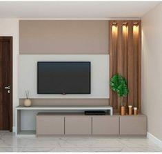 Modern Tv Room, Living Room Modern, Home Living Room, Living Room Decor, Living Room Partition Design, Ceiling Design Living Room, Home Room Design, Tv Wall Design, Living Room Wall Units