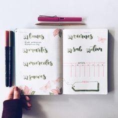"814 Me gusta, 8 comentarios - Bullet Journal & Studygram (@mylittlejournalblog) en Instagram: ""Lunes ✔️"""