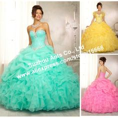 2014 Sexy Low Back New Beaded Crystal Corset Masquerade Yellow Ball Gown Evening Dress With Jacket Gown Ruffle PM570 $219.88