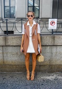 Vest Of The Vest Style Street Style New York Fashion Week Ss14